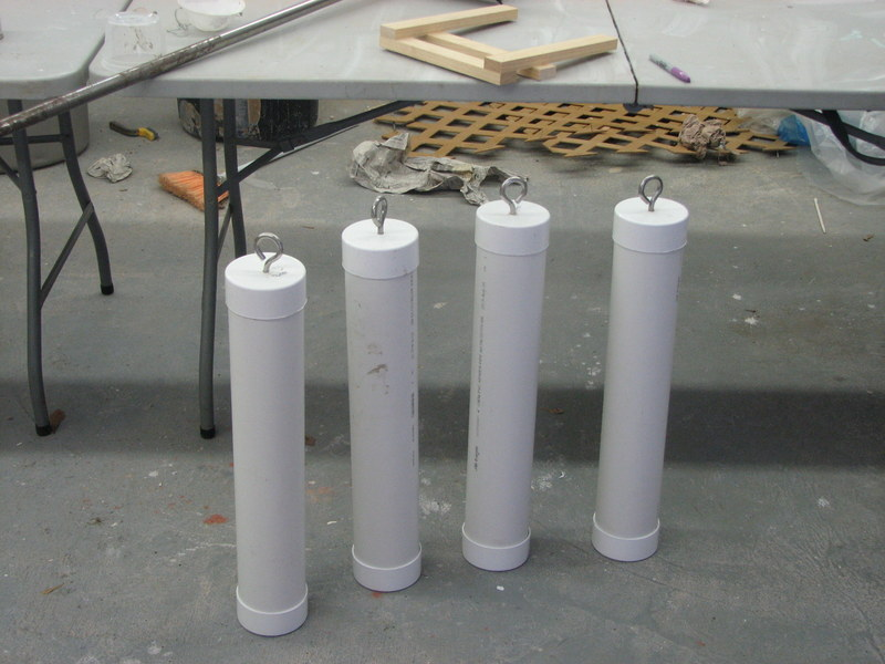 The Tent Weights Finished Pipe Cement